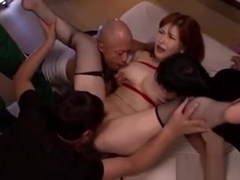 Busty Av Girl Anri Okita In Bondage Groupsex