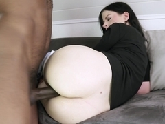 Hot brunette does rim job and anal fuck