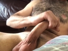 Stroking my big thick cock