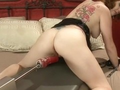 Racy Audrey Hollander making a kinky fetish performance