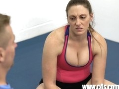 Melanie Hicks in Daddy Daughter Wrestling