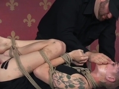 Gagging Sub Gets Punished In Frogtie Bondage