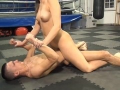 two girls double team boy and MAKE him to cum