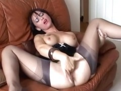 Masturbation Grey Stocking