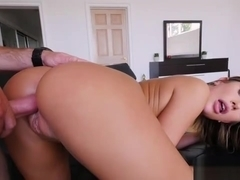 Bubble booty and natural massive jugs of August Ames