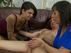 Amazing pornstars Alia Janine, Bonnie Rotten in Crazy Blowjob, Big Tits sex video