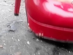 Sexy heels toy car crushing Crush fetish