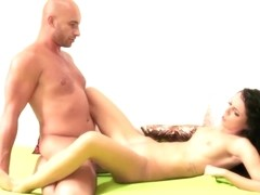 Babes Video: SEXY little brunette gets rough
