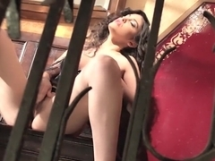 Spanish glamour girl masturbating