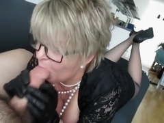milf leather gloves