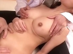 Amazing Japanese chick Chihiro Akino in Exotic Threesomes, Nurse JAV video