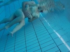 Underwater cam at sauna pool