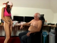 old man gets to be nipple sucked