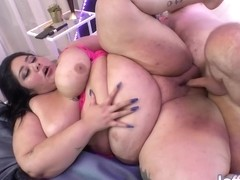 Crystal Blue Is A Smashing Bbw Who Likes To Stimulate Her Pussy During Anal Sex