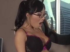 Horny pornstars Asa Akira and Kirsten Price in crazy asian, brunette sex clip
