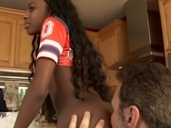 ebony cheerleader