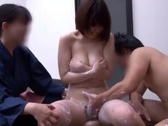 Asian couple shagging in a small pool