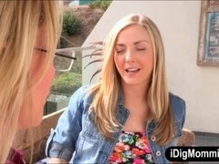 Pretty teen girl Karla Kush all holes licked by her stepmom