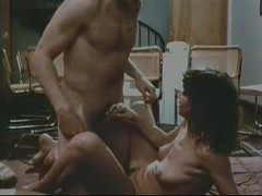 Veronica Hart, Lisa De Leeuw, John Alderman in classic porn movie