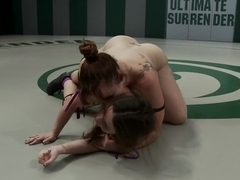New rookie on the mat gets a face full of humilation & monster titsTotally defeated & fucked!
