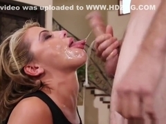 Blonde Tori Loves Deep Throating