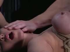 BDSM XXX Blonde sub gets tied up and has her holes filled