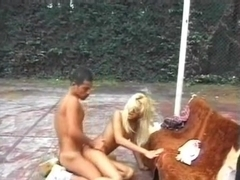Amateur sex with shemale outdoor
