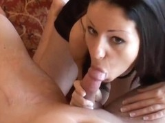 I suck my lover's hard pecker in facial amateur video