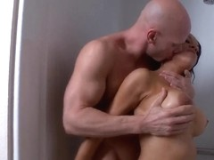 Sexy girl Brianna Sparks and her boyfriend in shower