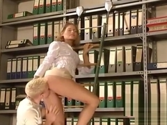German very hot office sex. Beautiful hottie