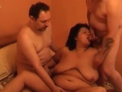 Three some with bbw mature wife