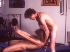 Brunette Vintage Girl Is Fucked In The Gym