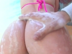 Bikini girls with bare bubble butts Gracie Glam and Jennifer White