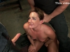 Slave trainee is fucked and whipped
