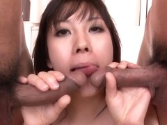An Blow Job And Fucking Gets Hina Tokisaka Cream Filled By Two