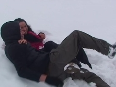 Emmy in hot couple fucking passionately in nature