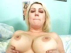 Chubby Blonde, Zenova Braeden, Gets Her Pussy Plugged!