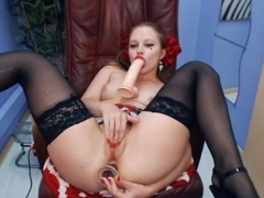 girl masturbate and analised