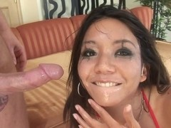 Keanni Lei taking a dick deep down her throat