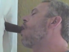24 yr. old anonymous black cock at my glory hole-part 1