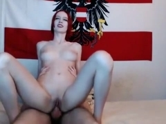 Redhead Blowjob And Fuck On Webcam Part 03