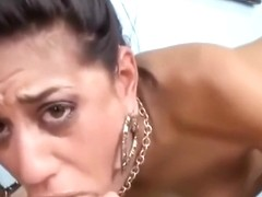 Lyla Storm hungrily deep throats and gets a facial