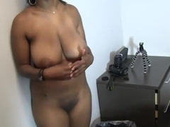 Thali is a big titted, black woman who likes to have casual sex, even at work