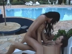 Sabrina and Wesley poolside romance