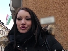 Hungarian cuttie from public banging for cash