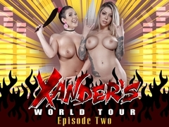 Angela White & Karma Rx & Xander Corvus in Xanders World Tour - Ep.2 - BrazzersNetwork