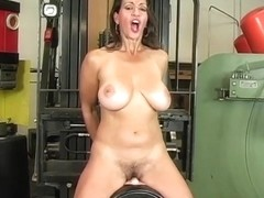 Busty Mature Milf Persia Monir Dirty Talking And Riding The Sybian To A Shaking Orgasm