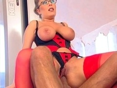 Busty Jessica Moore gets wicked anal cramming