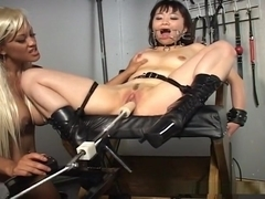 Asian sex slave forced orgasm