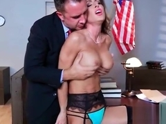(Jessica Jaymes) Girl With Round Big Tits In Hard Style Sex In Office clip-12
